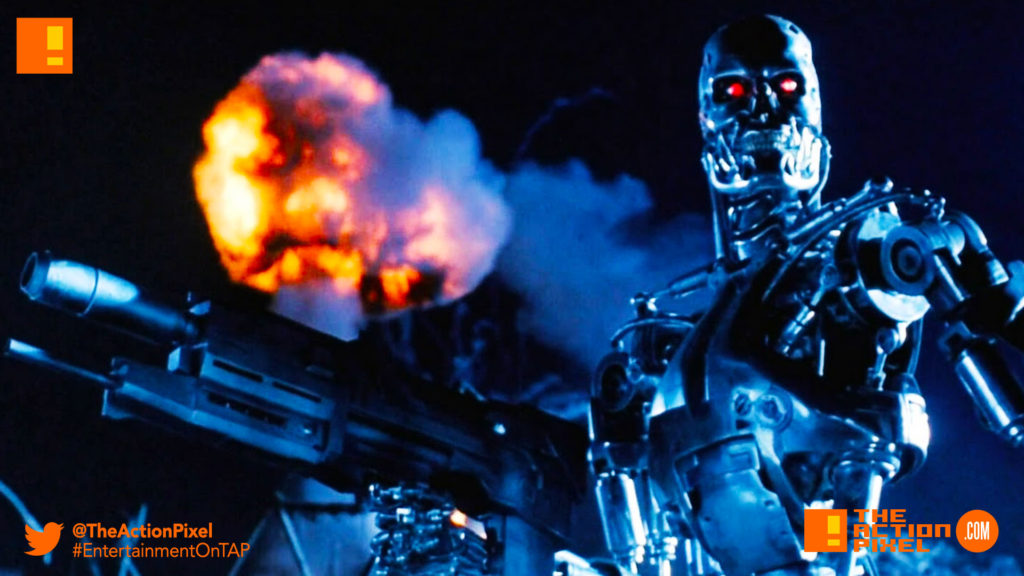 terminator, terminator 2, arnold schwarzenegger, t-800,t-1000,john connor, the action pixel , entertainment on tap