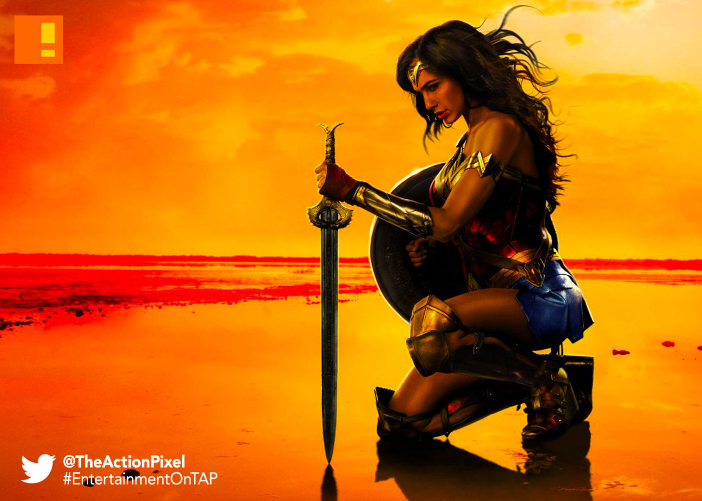 wonder woman,the action pixel, entertainment on tap, wb pictures, warner bros. entertainment , the action pixel, gal gadot, ww,bracelets, poster