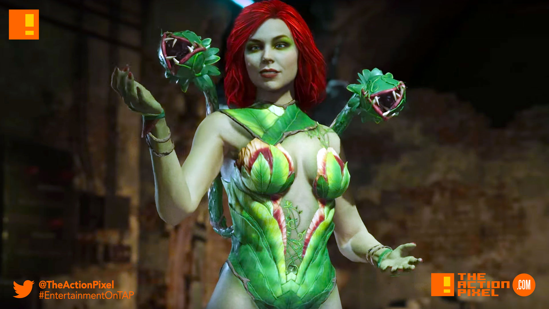 injustice 2, wb games, netherrealm studios, the action pixel, dc comics, warner bros. entertainment , the action pixel, superman, dc comics, trailer, introducing poison ivy,poison ivy