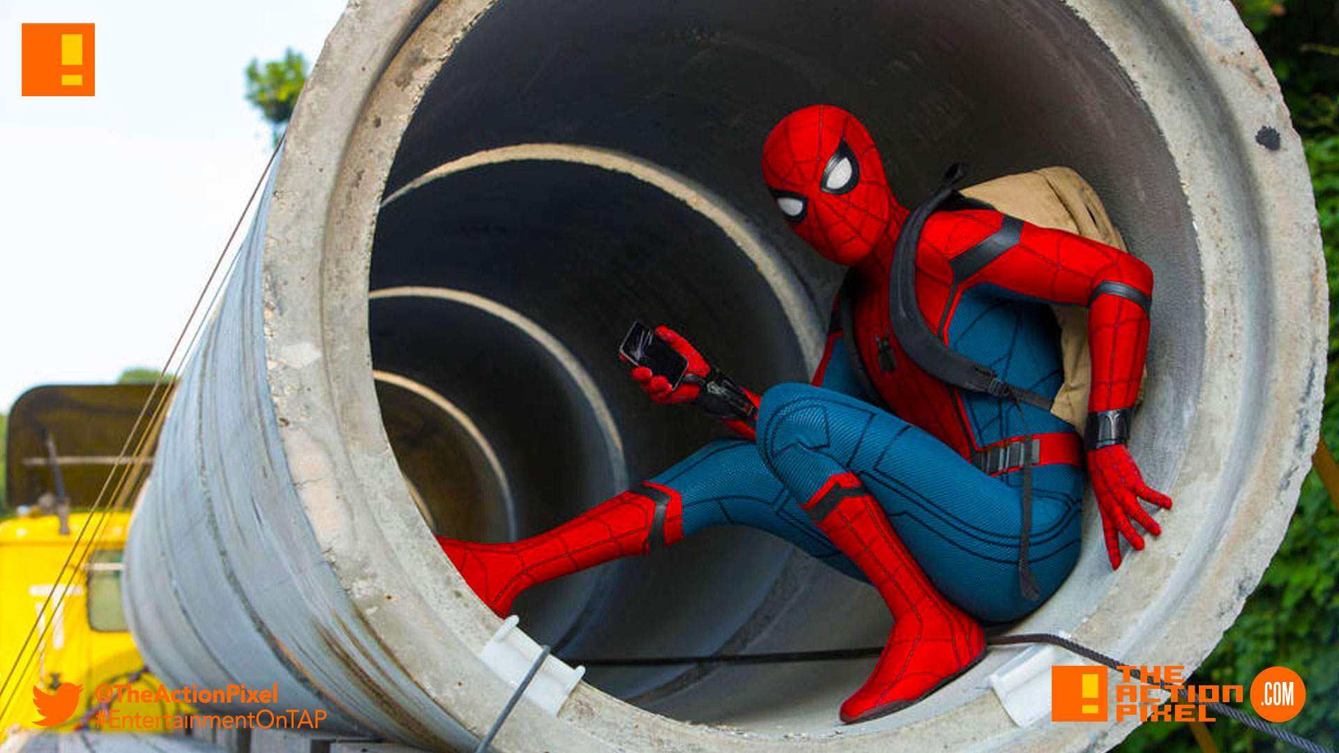 spiderman, poster spider-man: homecoming, spider-man, spiderman, homecoming, marvel, marvel comics, disney, marvel studios, sony, the action pixel, entertainment on tap, tom holland, images