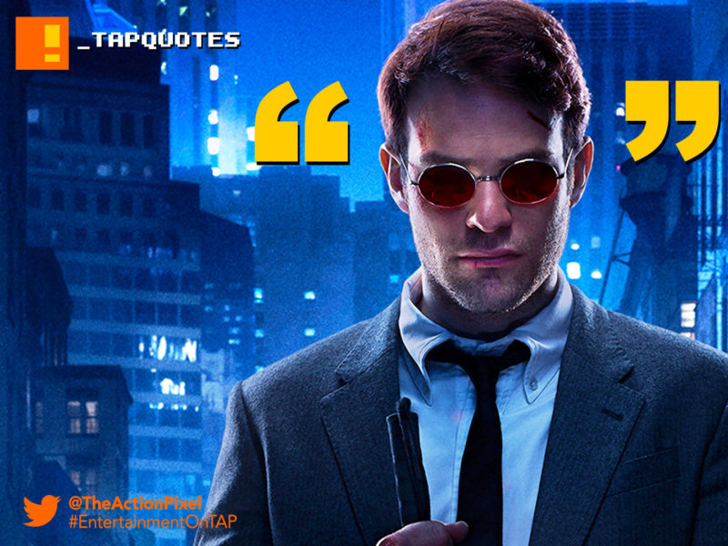 tap quotes, daredevil, netflix, #tapquotes,quotes,marvel comics, stick, netflix, abc studios, anger is a spark. rage is a wildfire -- out of control therefore useless,
