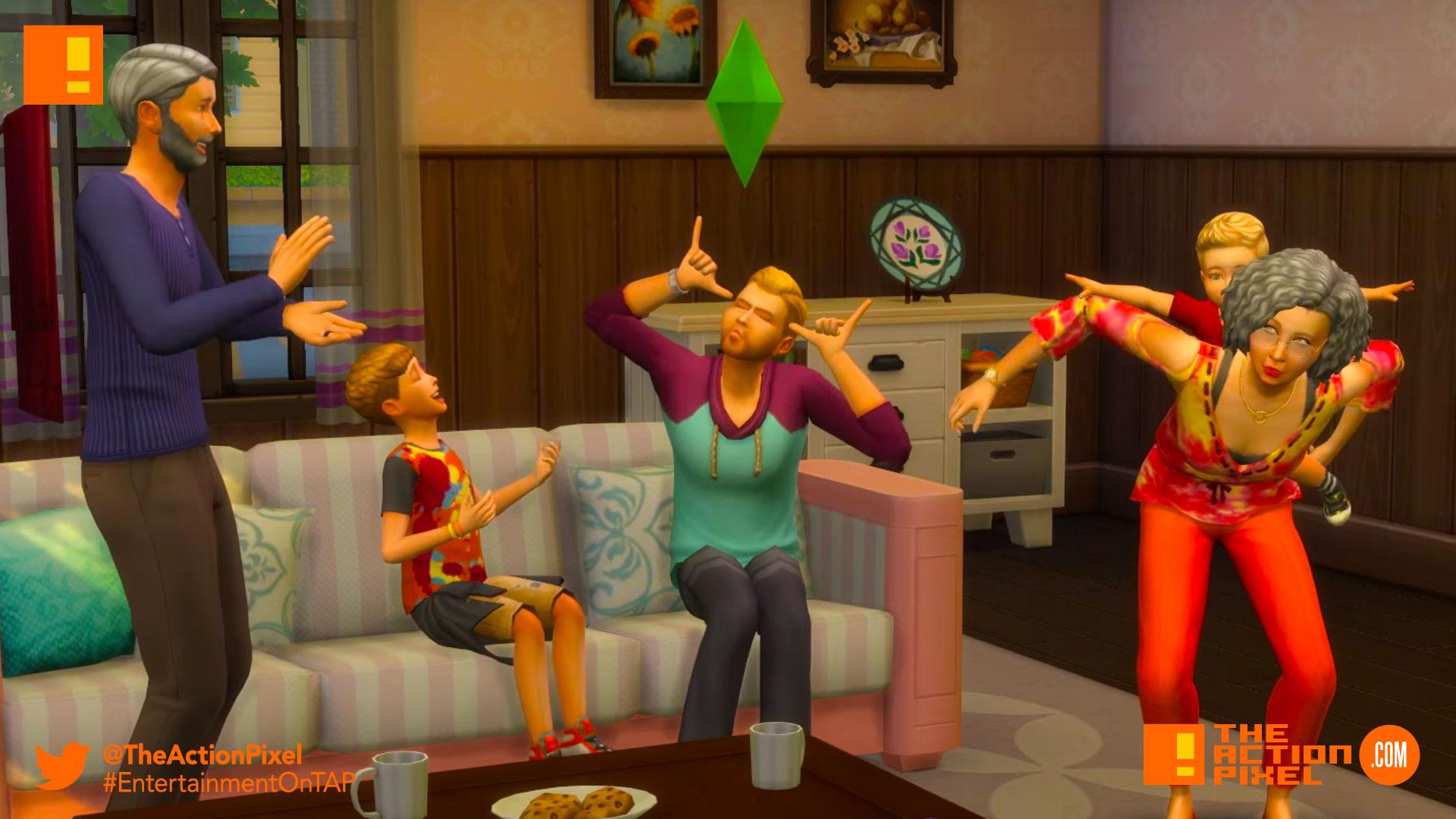 the sims 4 parenthood, parenthood, the sims, the sims 4, trailer, the action pixel, ea, ea games,entertainment on tap,