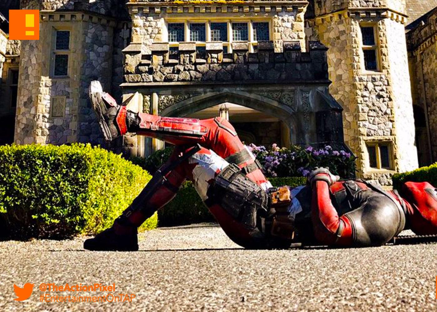 deadpool 2, x mansion, xavier institute, deadpool, marvel, 20th century fox, marvel comics, mutants, mutant, ryan reynolds , bts, set ,image, merc with the mouth, set photo, the action pixel, entertainment on tap