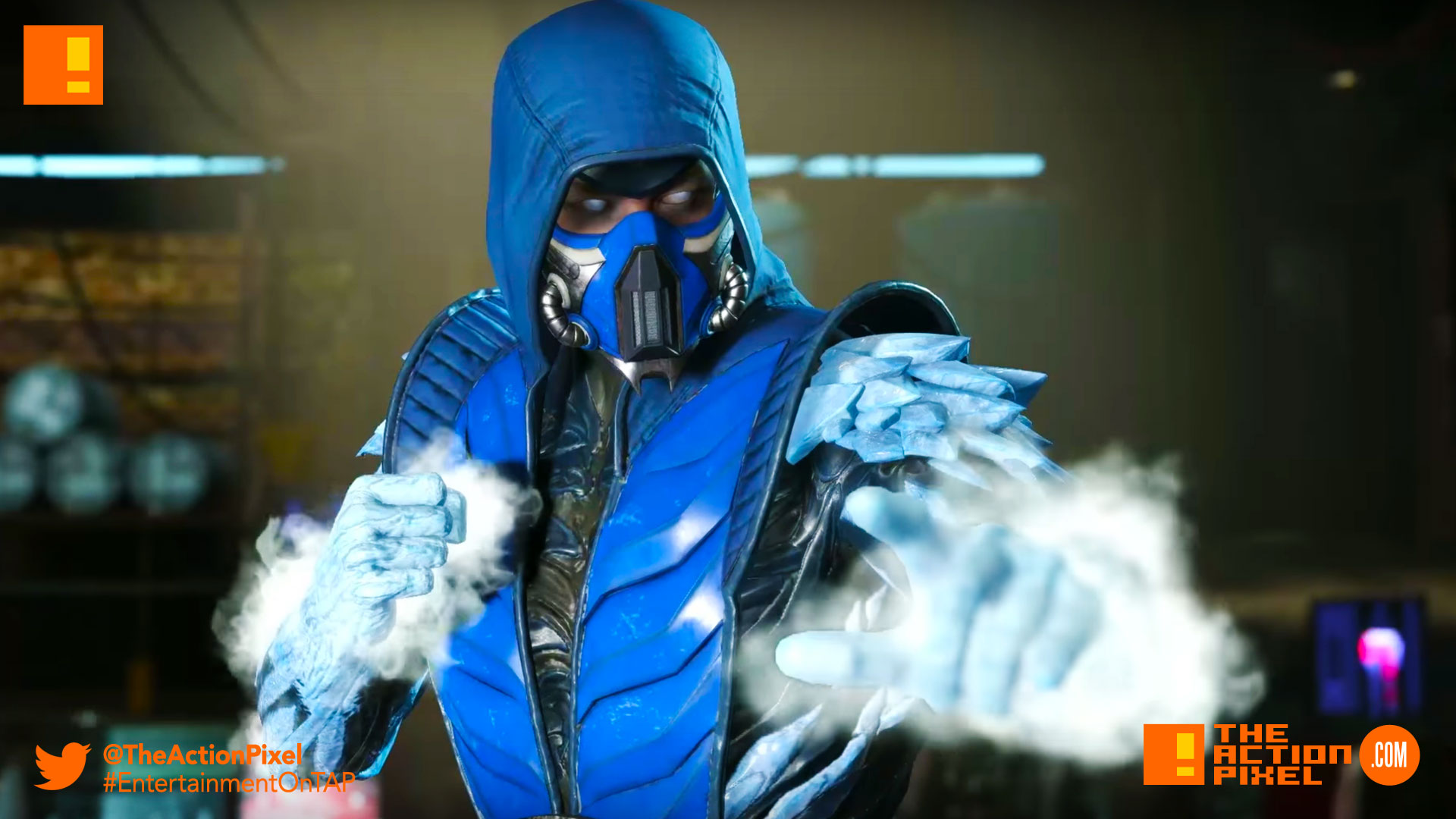 sub zero,injustice 2, the action pixel, entertainment on tap, trailer, character trailer,