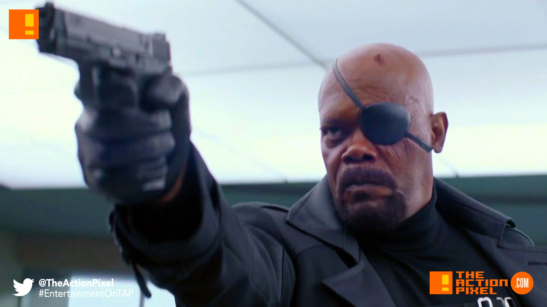 nick fury, marvel, the action pixel, entertainment on tap, marvel studios, brie larson, carol danvers, nick fury, the action pixel, entertainment on tap, marvel studios, marvel comics, marvel,