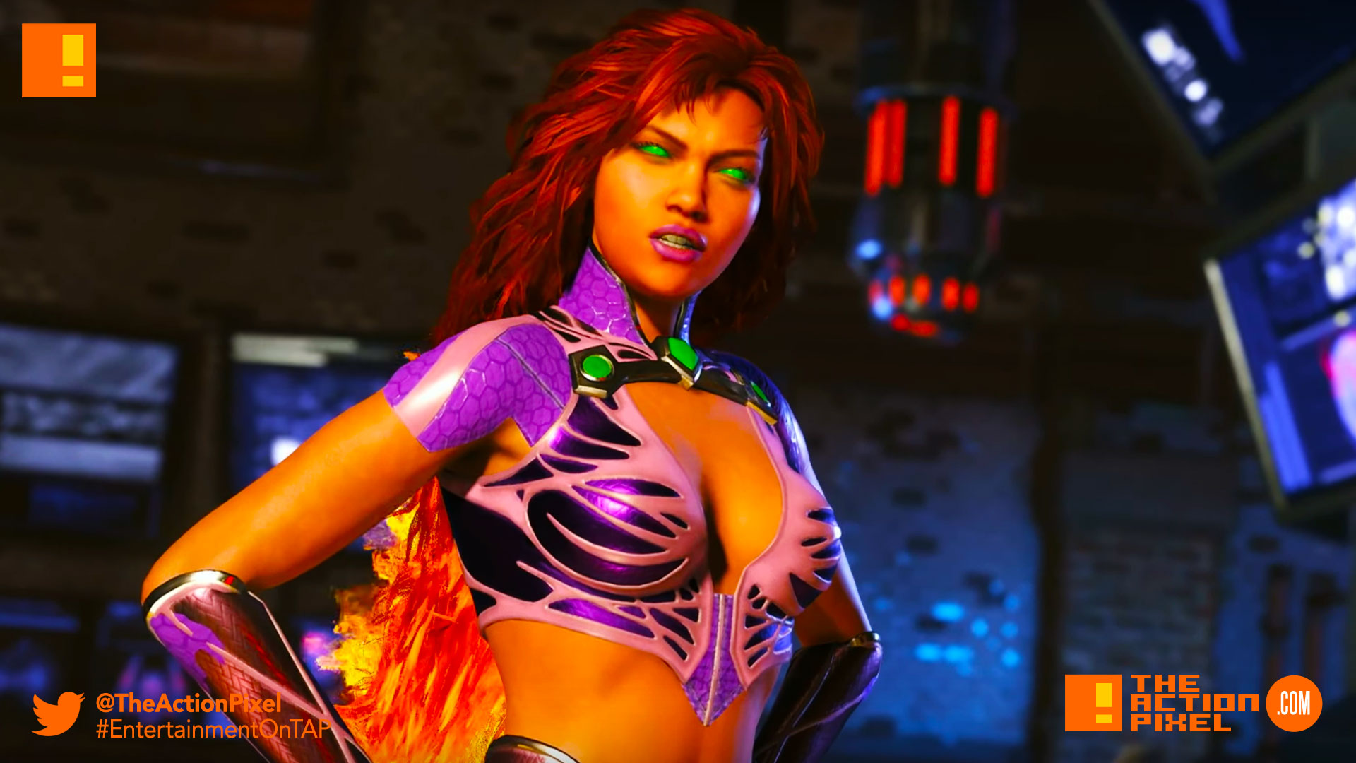 starfire, injustice 2, the action pixel, entertainment on tap, dulani wilson, netherrealm studios, wb games, dc comics, dc entertainment , warner bros. entertainment, warner bros., warner bros, tamaran, koriand'r,