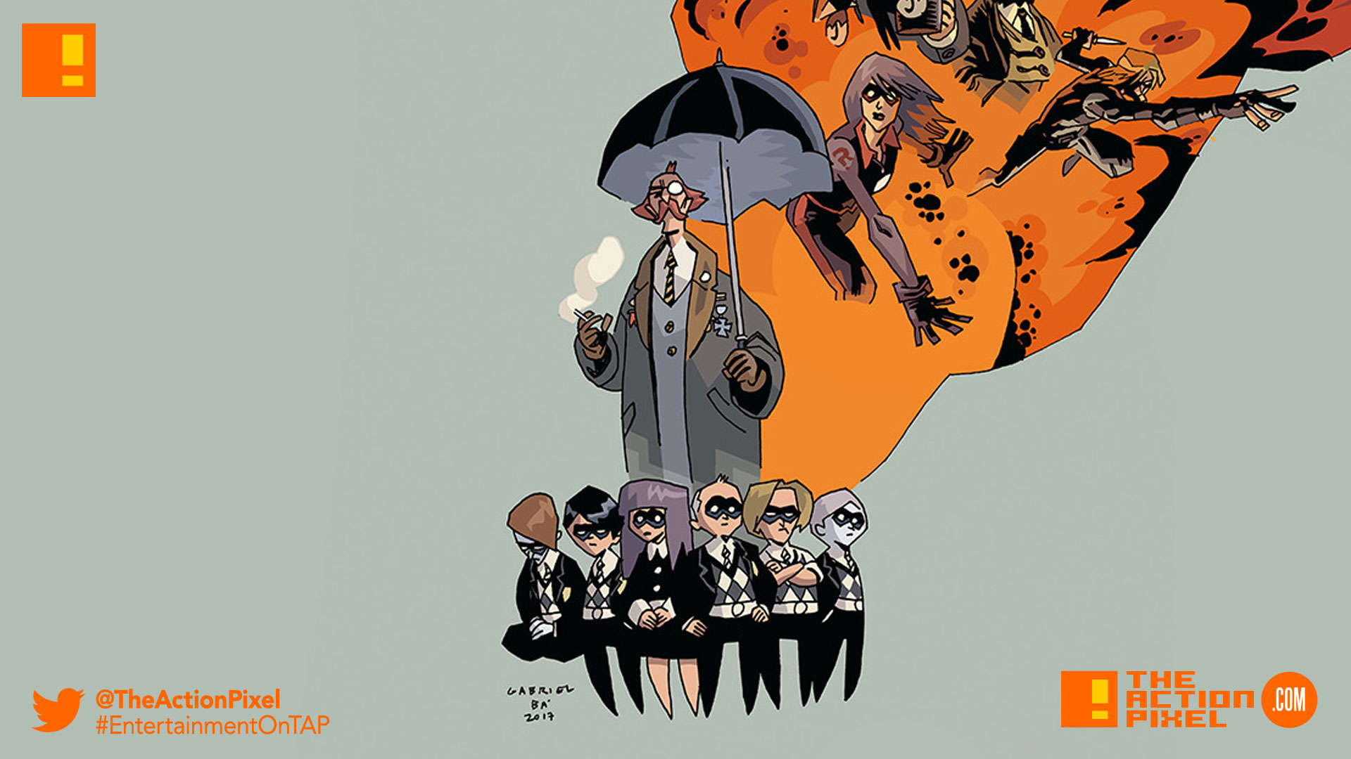The Monocle, Spaceboy, The Kraken, The Rumor, The Séance, Number Five, The Horror, the white violin,cindy holland,netflix,dark horse,dark horse comics, the umbrella academy,gabriel bá,gerard way,the action pixel,entertainment on tap,