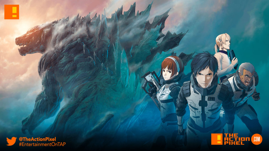 godzilla, gozilla: monster planet, monster planet, anime, the action pixel,entertainment on tap,trailer,poster