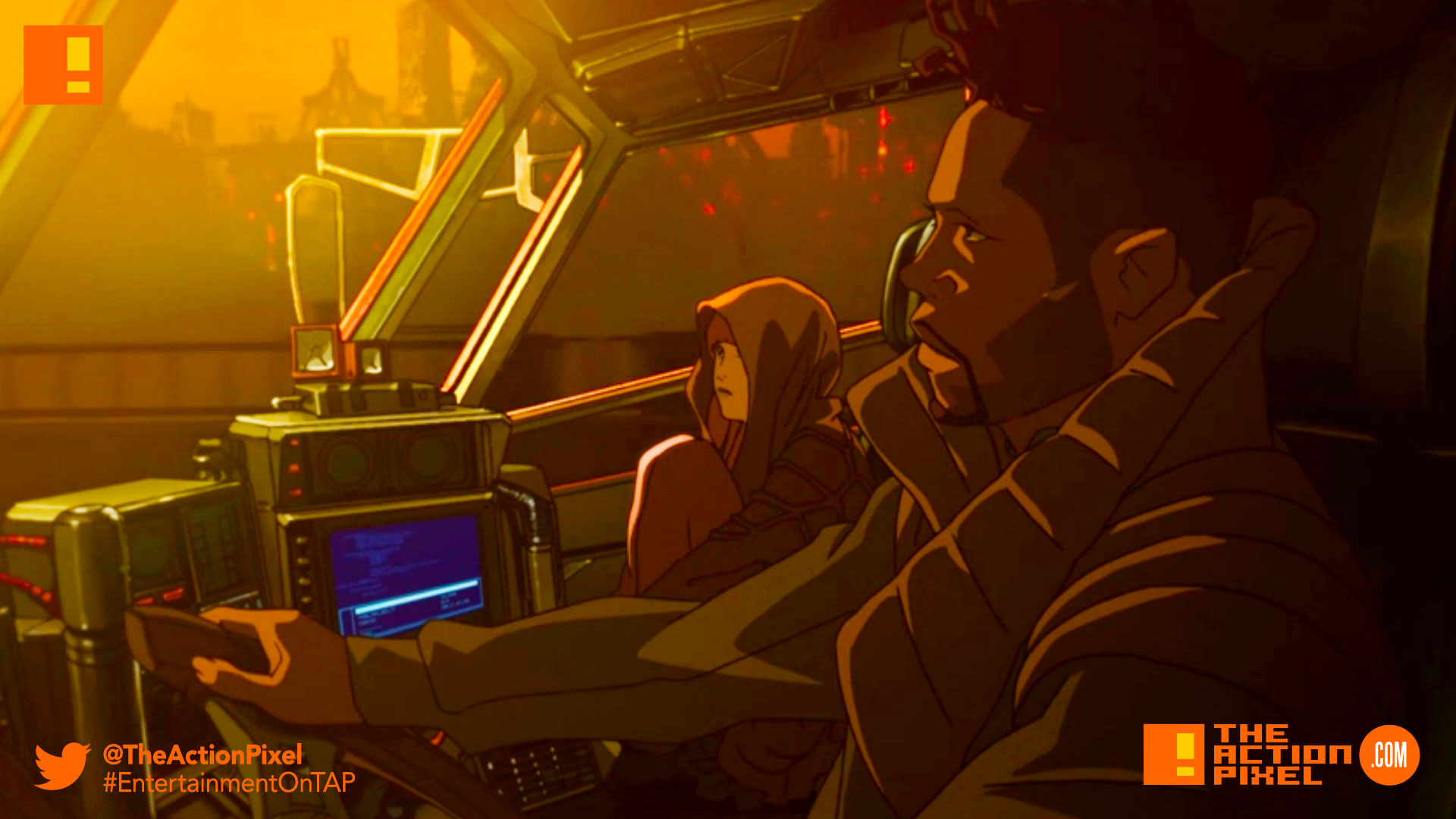 n 2022, an EMP detonation has caused a global blackout that has massive, destructive implications all over the world. Directed by Cowboy Bebop and Samurai Champloo's Shinichiro Watanabe, Blade Runner Black Out 2022 is a new and highly-anticipated animated short which serves as a prologue for the upcoming..., bladerunner , Bladerunner Black Out 2022, dave bautista, blade runner 2049, ryan gosling, harrison ford, trailer, sony, columbia, icon, warner bros. entertainment , the action pixel, entertainment on tap, rick deckard,blade runner,poster, teaser, warner bros, columbia,ridley scott, poster, character posters