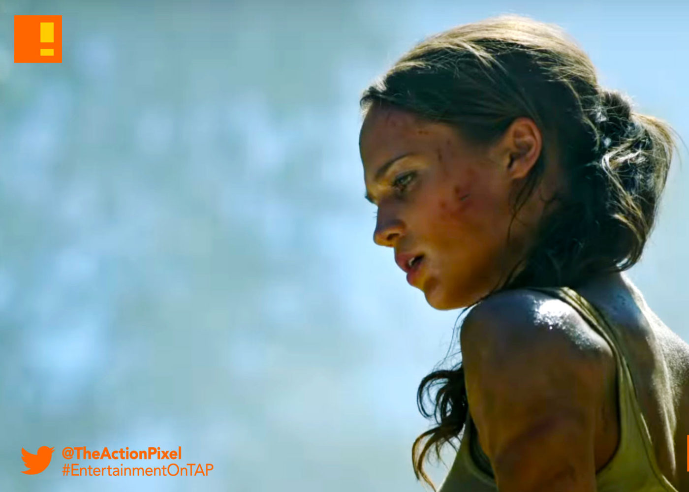 bts, trailer, TOMB RAIDER, ALICIA vikander, lara croft, first look, entertainment on tap, the action pixel,