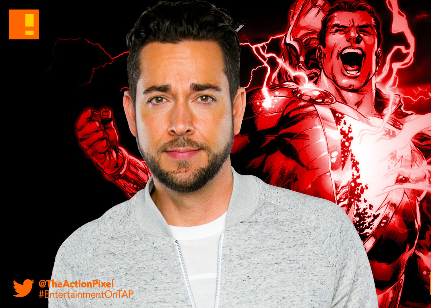 Zachary Levi Is The Big Red Cheese In Upcoming DC Movie Shazam