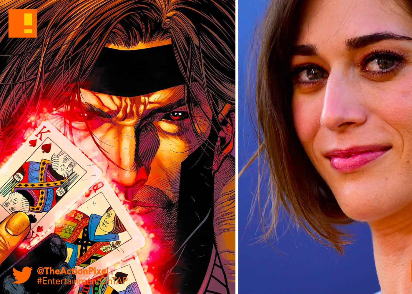 gambit, lizzy caplan, casting , the action pixel, marvel, entertainment on tap, x-men,