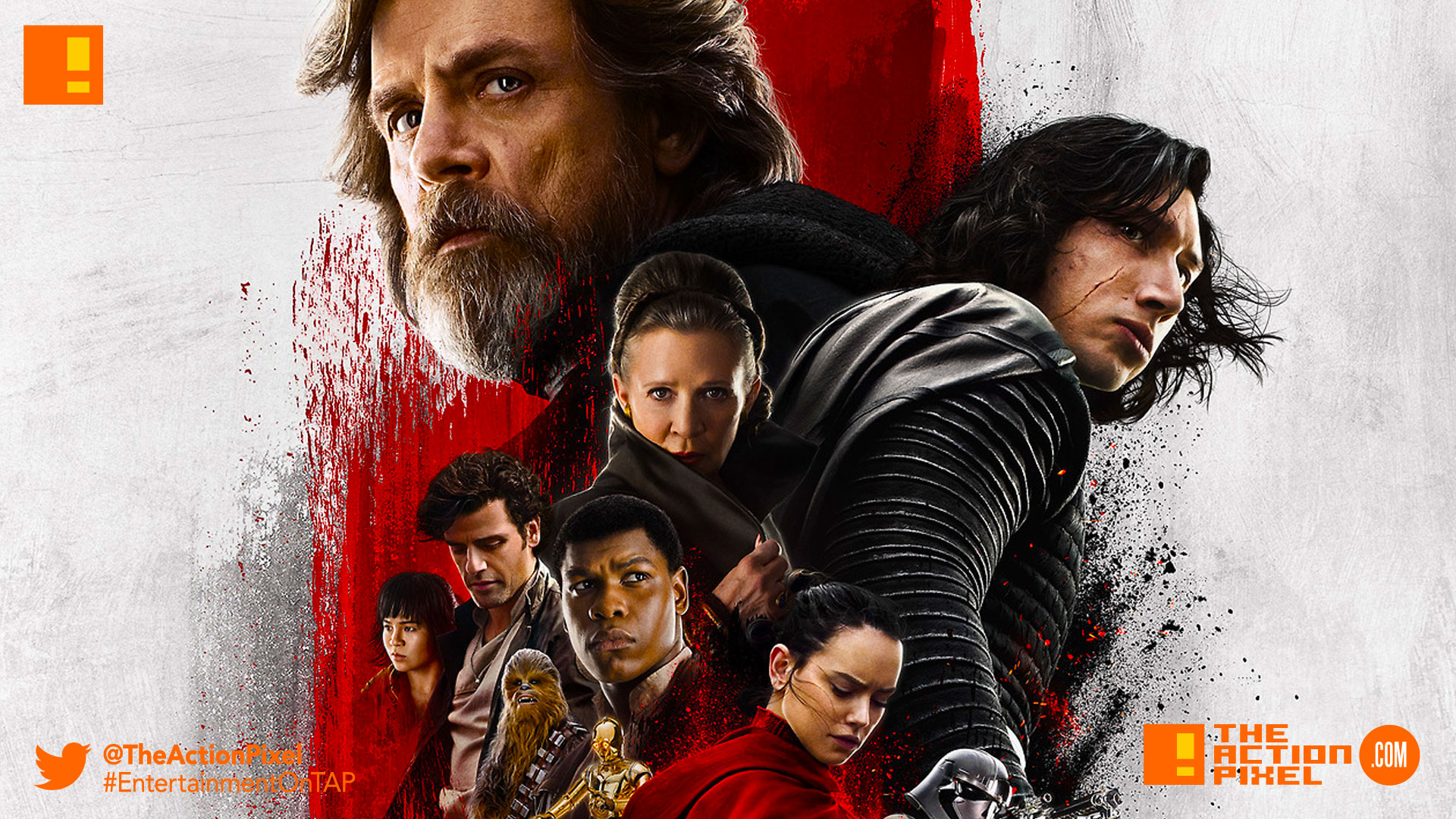 snoke, snoak, the last jedi, star wars, star wars: the last jedi, mark hamill, luke skywalker, princess leia,carrie fisher, rey,the action pixel, entertainment on tap,kylo ren, photographs,image,poster ,awake, trailer, imax, poster