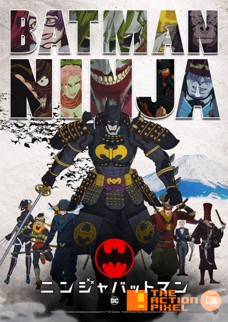 batman,ninja,dc comics, dc entertainment , the action pixel, entertainment on tap,poster