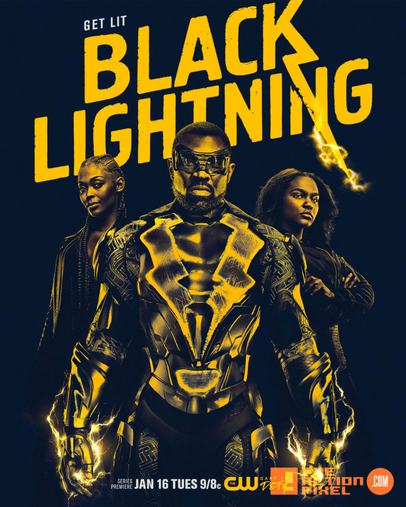 black lightning, DC comics, the action pixel, entertainment on tap, cress williams, cw,the cw, the cw network, warner bros. dc comics, dc entertainment, jefferson pierce, first look, poster, origins trailer
