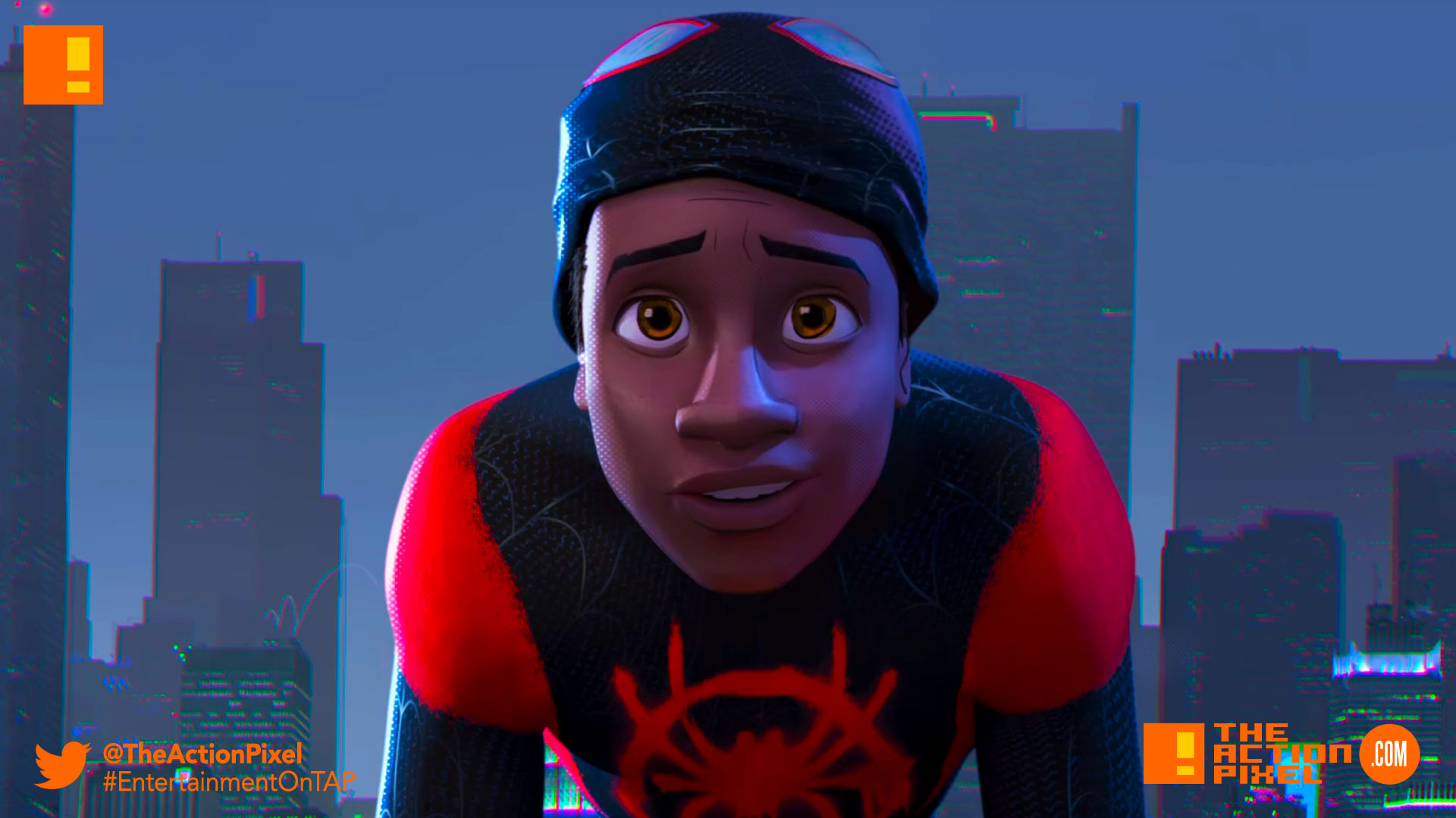 miles morales, spiderman, spider man, spider-man, sony, marvel, marvel comics, animated feature, animation, the action pixel, entertainment on tap,sony animation, marvel