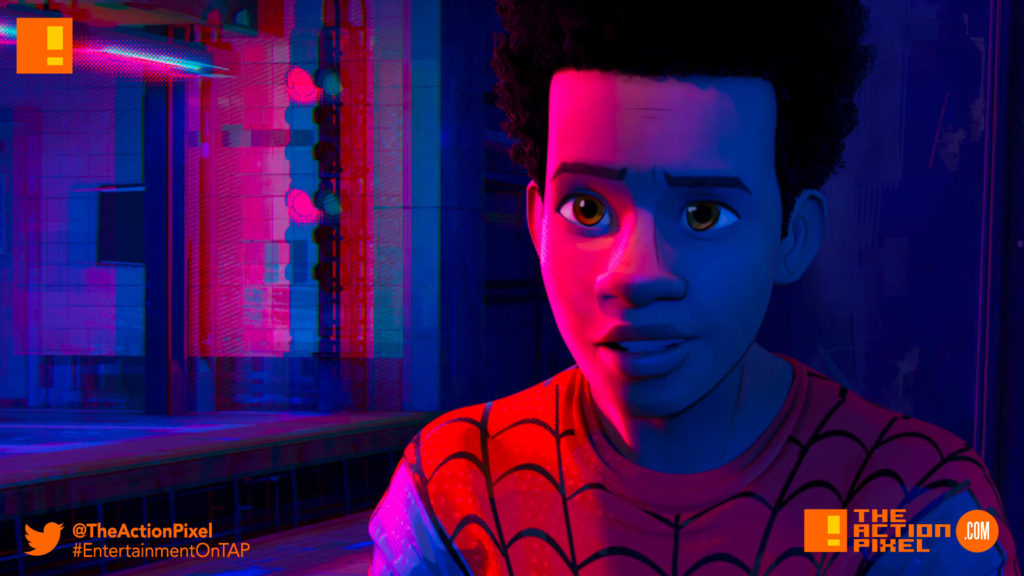 miles morales, spiderman, spider man, spider-man, sony, marvel, marvel comics, animated feature, animation, the action pixel, entertainment on tap,sony animation, marvel,spider-man: into the spider-verse