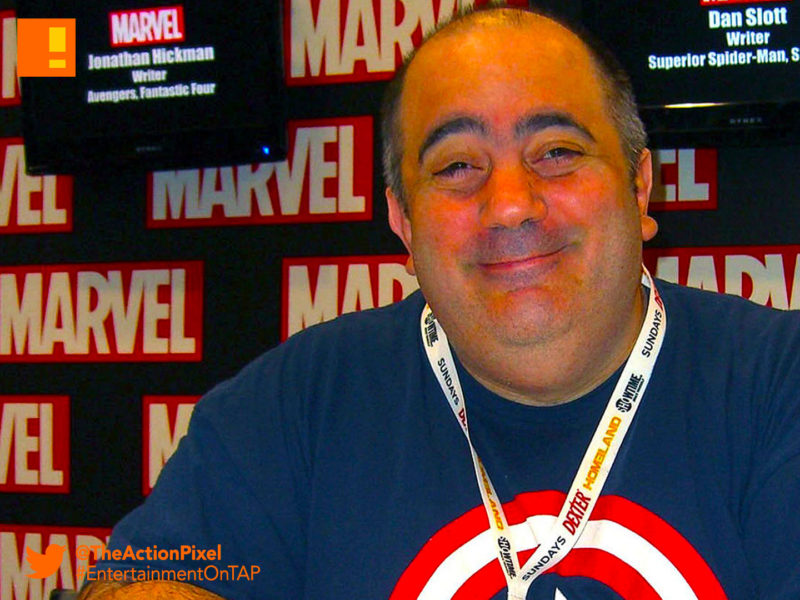 dan slott, marvel, writer, spider-man, iron-man, entertainment on tap, the action pixel