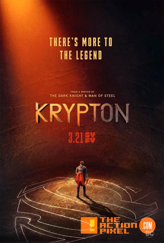 krypton ,poster, poster art, krypton, dc comics, syfy, superman, kal-el,the action pixel, entertainment on tap,
