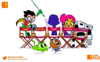 teen titans go!, teen titans go! movie, teen titans, robin, robin, cyborg, starfire, beast boy, dc comics, the action pixel, entertainment on tap