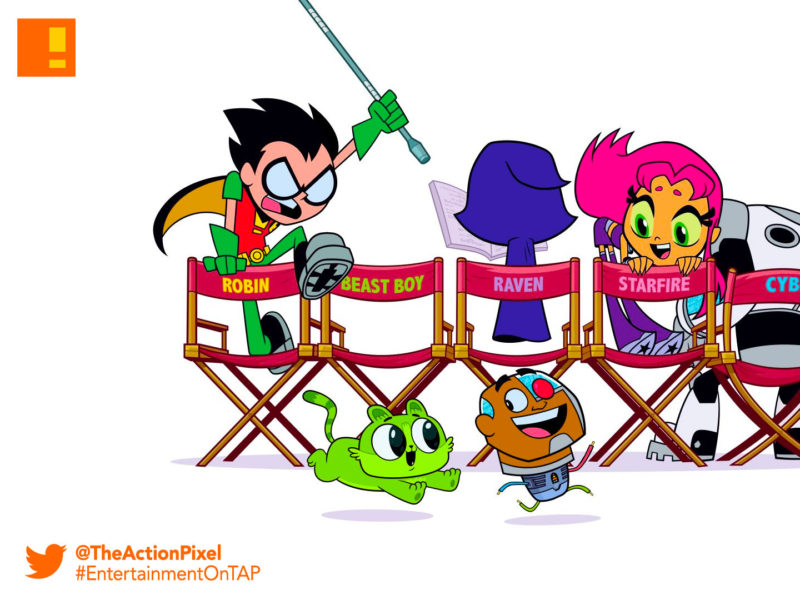 teen titans go!, teen titans go! movie, teen titans, robin, robin, cyborg, starfire, beast boy, dc comics, the action pixel, entertainment on tap