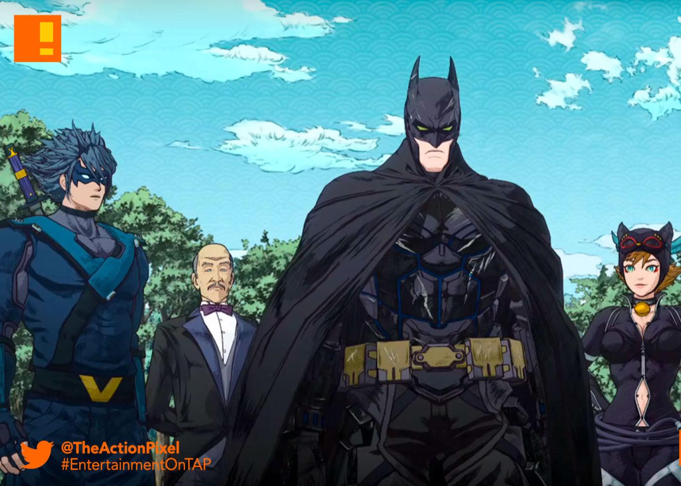 batman,ninja,dc comics, dc entertainment , the action pixel, entertainment on tap,poster, trailer, poster