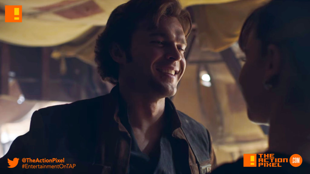 ron howard, han solo, a star wars story, alden ehrenreich, han solo, the action pixel, star wars, solo movie, han solo solo movie, a star wars story, entertainment on tap, donald glover,woody harrelson,big game, tv spot,