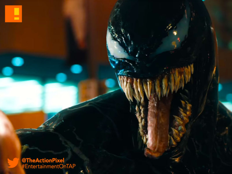 poster, trailer, tom hardy, venom, spider-man, spin-off, the action pixel, entertainment on tap,sony pictures