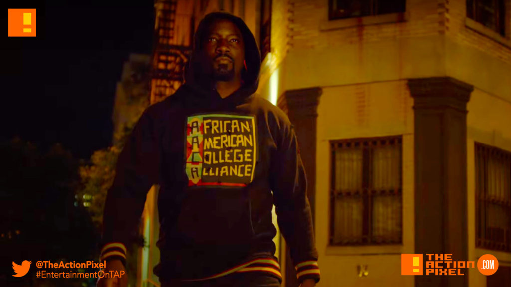 iron fist, luke cage, marvel, marvel entertainment, netflix, the defenders, defend, defenders, mike colter, iron fist, luke cage, luke cage season 2, season 2, photo, still, entertainment on tap, the action pixel,season 2, date announcement, release date,official trailer, black mariah,