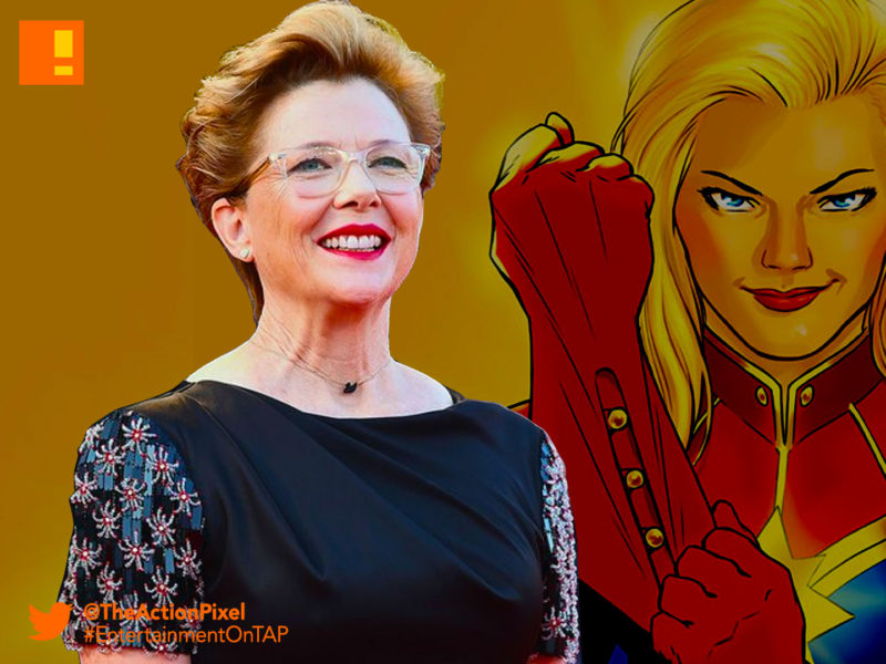 annette Bening, actor, captain marvel, brie larson, marvel,marvel comics,marvel entertainment, the action pixel,entertainment on tap,