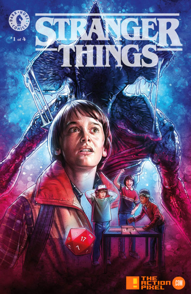 Kyle Lambert, Netflix, stranger things , stranger things 2, the action pixel, will ayer, comic book, dark horse comics, netflix series, dark horse, preview, panel art, demagorgon, eleven, el, L, the action pixel, entertainment on tap,