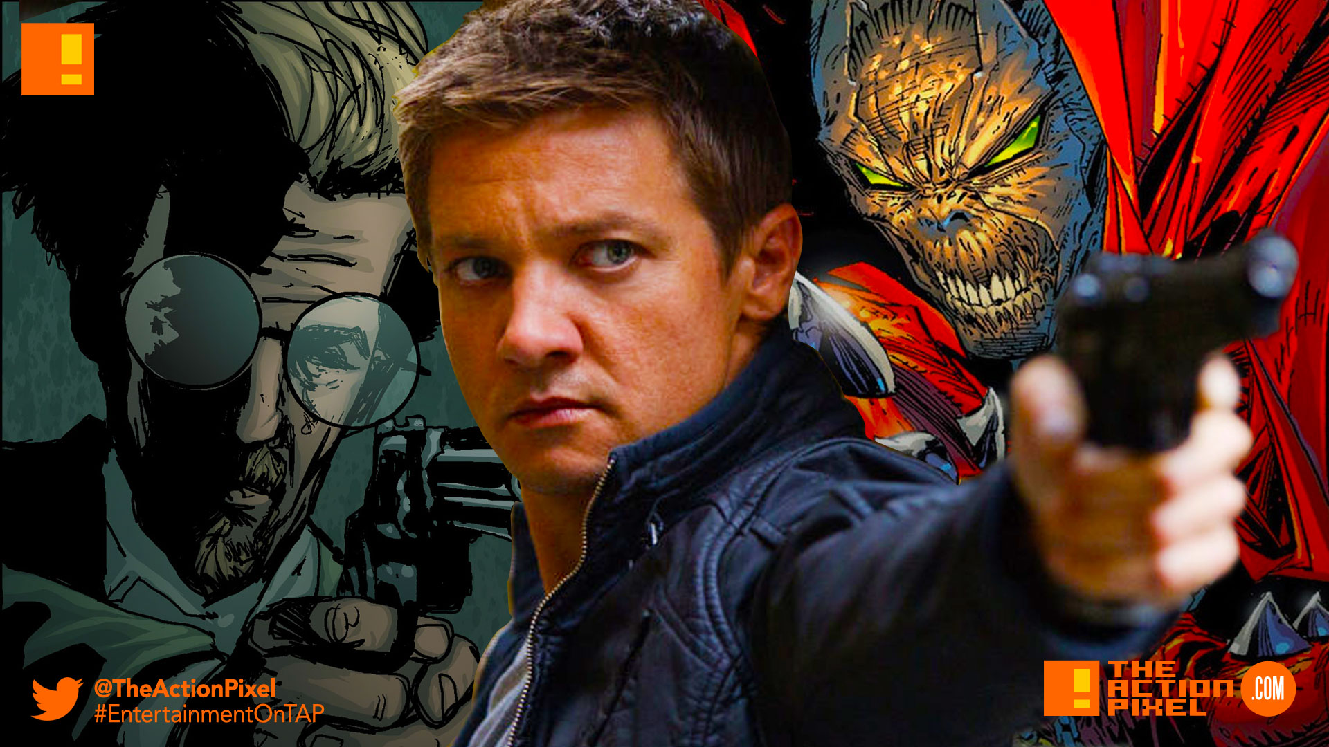 jamie foxx, spawn, todd mcfarlane, blumhouse,blum, the action pixel, entertainment on tap,detective 'twitch' williams, jeremy renner, twitch
