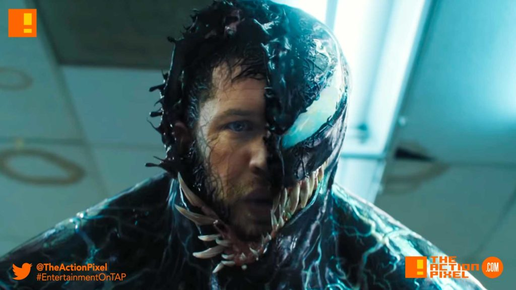venom, tom hardy,poster, trailer, tom hardy, venom, spider-man, spin-off, the action pixel, entertainment on tap,sony pictures,official trailer, entertainment weekly, trailer 2,