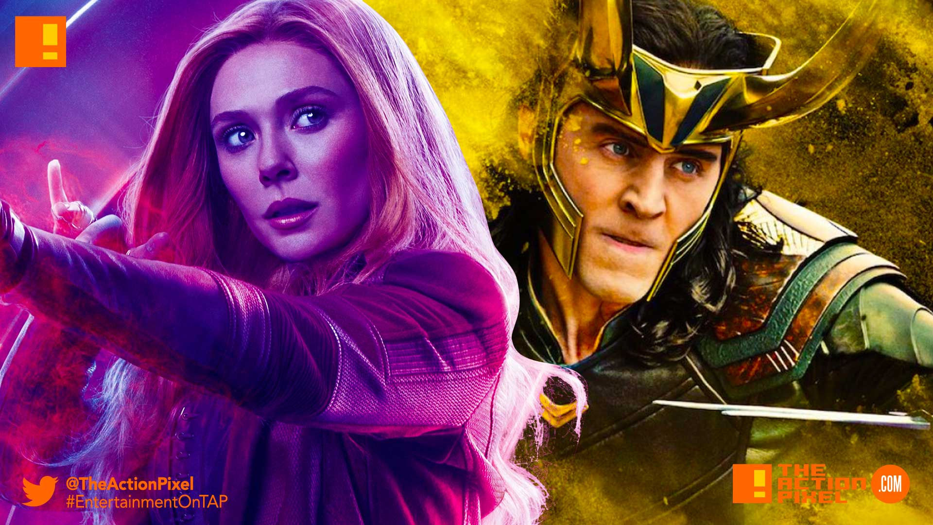loki, scarlet witch, the action pixel, entertainment on tap, disney, marvel, mcu