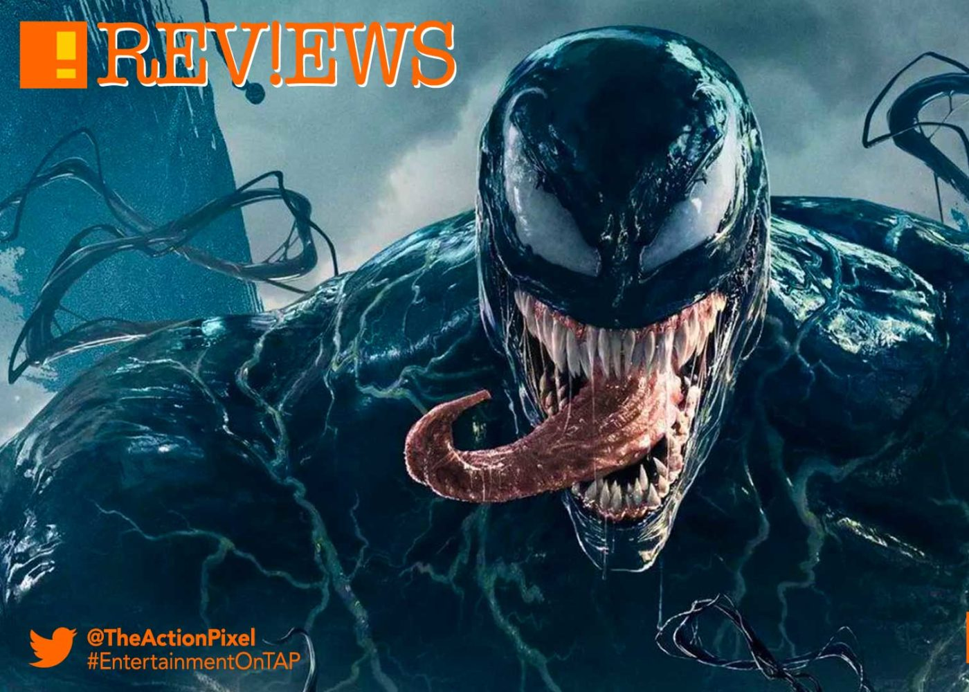venom, tom hardy,poster, trailer, tom hardy, venom, spider-man, spin-off, the action pixel, entertainment on tap,sony pictures,official trailer, entertainment weekly, trailer 2,film review, venom film review,