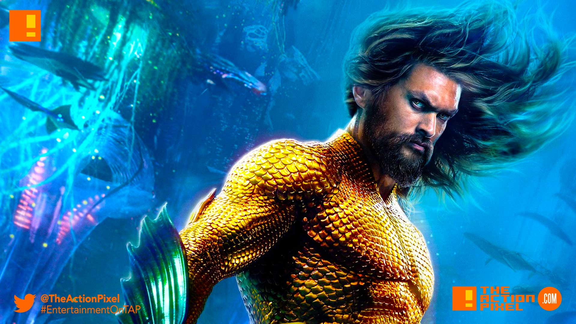 AQUAMAN, vulko, king orm, king nereus, black manta, queen atlanna, princess mera, arthur curry, dc comics, warner bros. pictures, the action pixel, character posters, poster, entertainment on tap,