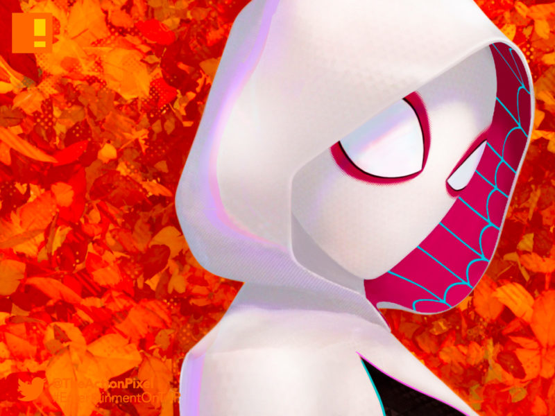 gwen stacy, miles morales, spiderman, spider man, spider-man, sony, marvel, marvel comics, animated feature, animation, the action pixel, entertainment on tap,sony animation, marvel,into the spiderverse, spider-man: into the spider-verse,gwen stacey, poster, sony pictures, spin-off,