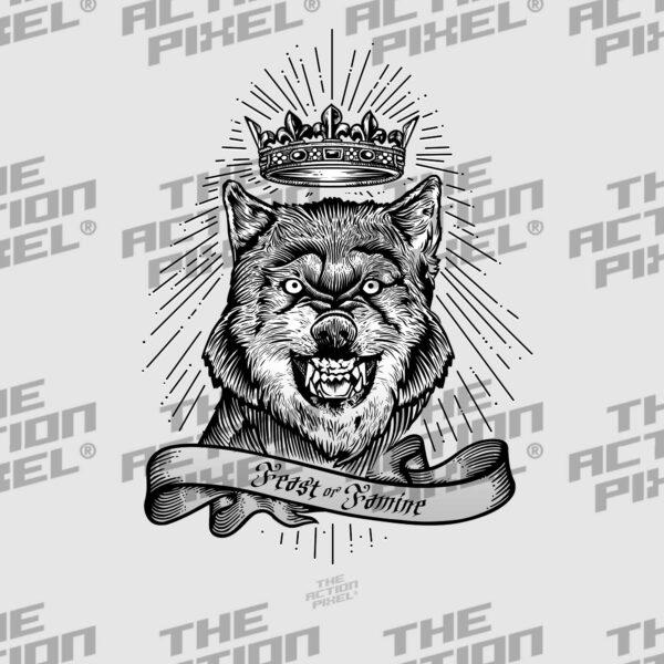 feast or famine, crown, wolf, wolf lovers, hunters, nature, entrepreneur, hunt, art of war, leader, tshirt, t shirt, t-shirt, tshirt design, macabre, printlife, tshirt collection, dtg , direct to garment, tshirt time ,tshirt print, tshirts lovers, tshirt lover, fashion, hoodies , tshirt style, gamer clan, gamer tag, gamers, gamer, tshirt, apparel brand, apparel, wolves, werewolf,
