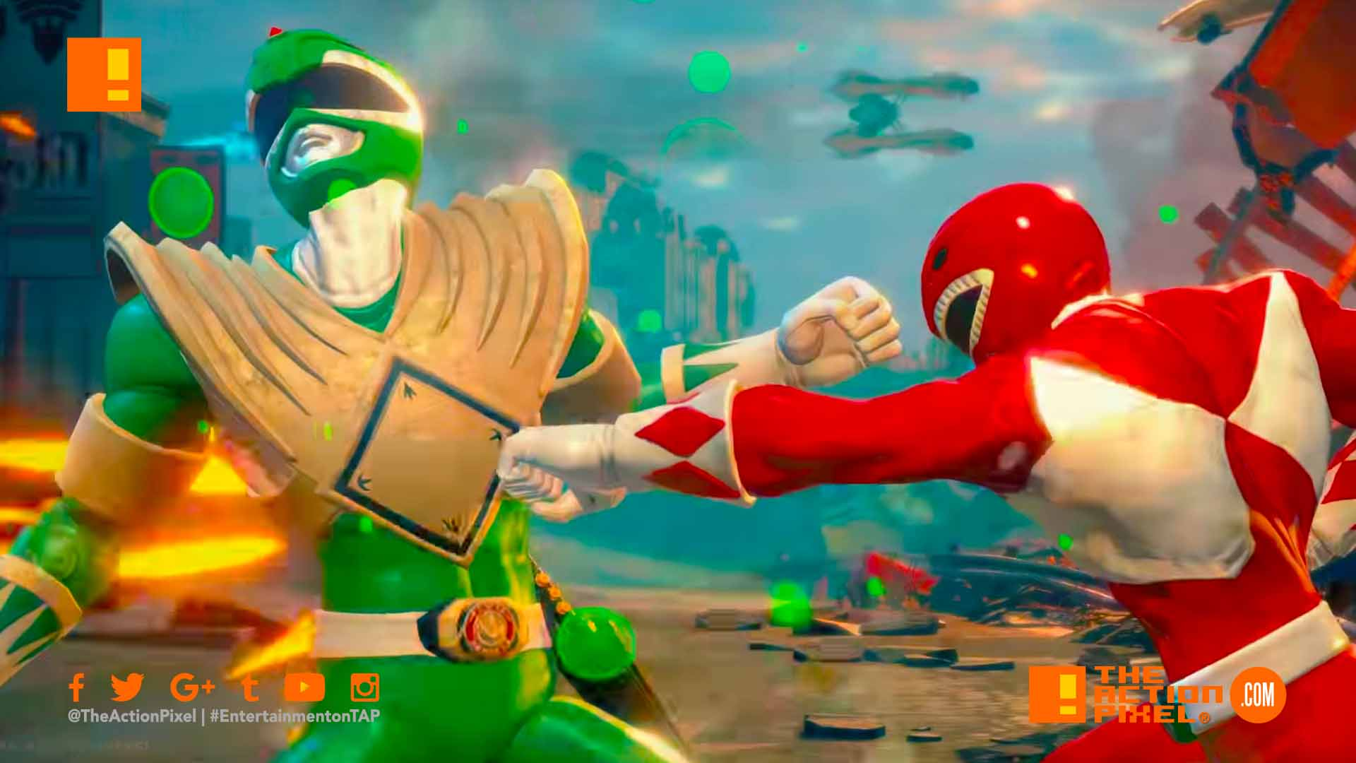 Power rangers, battle for the grid, power rangers: battle for the grid, green ranger, jason david frank , announcement trailer, green ranger, the action pixel, entertainment on tap
