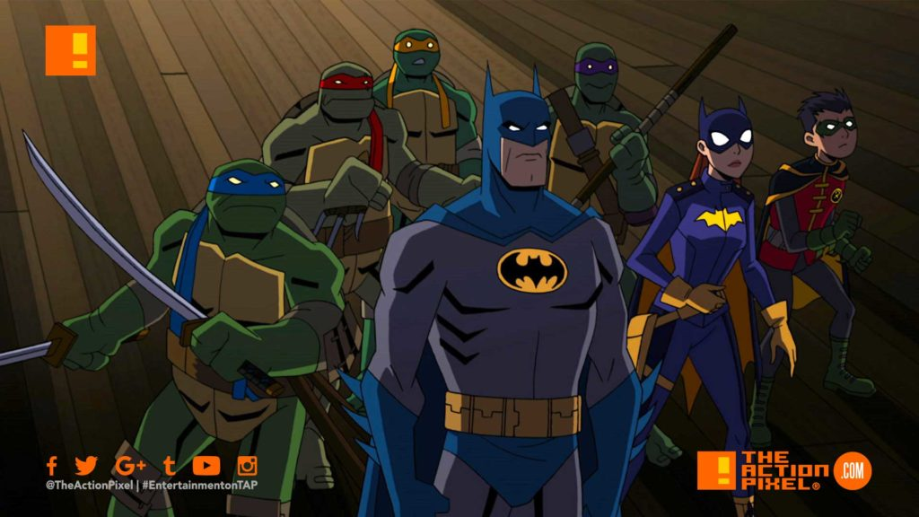 batman, animation, nickelodeon, dc comics, warner bros animation, tmnt, teenage mutant ninja turtles, gotham, Leonardo, Michelangelo, Raphael, and Donatello. Leonardo , bruce wayne ,gotham, dc comics crossover event