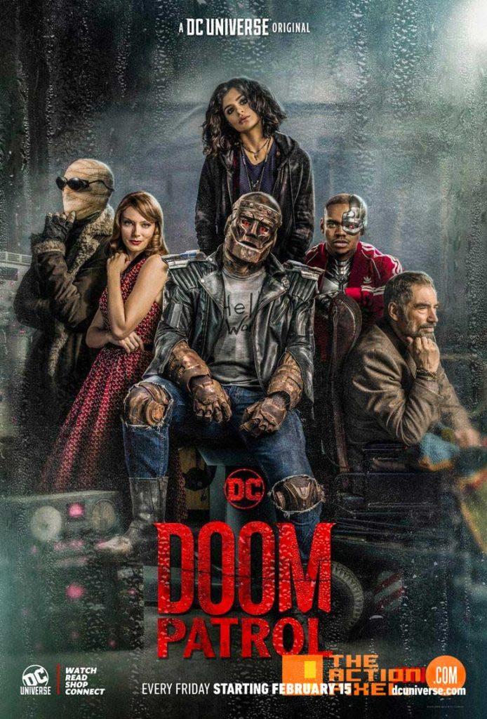 doom patrol,Dr. Niles Caulder, the chief, cyborg,Robotman, Negative Man, Elasti-Girl, crazy jane, the action pixel, entertainment on tap,