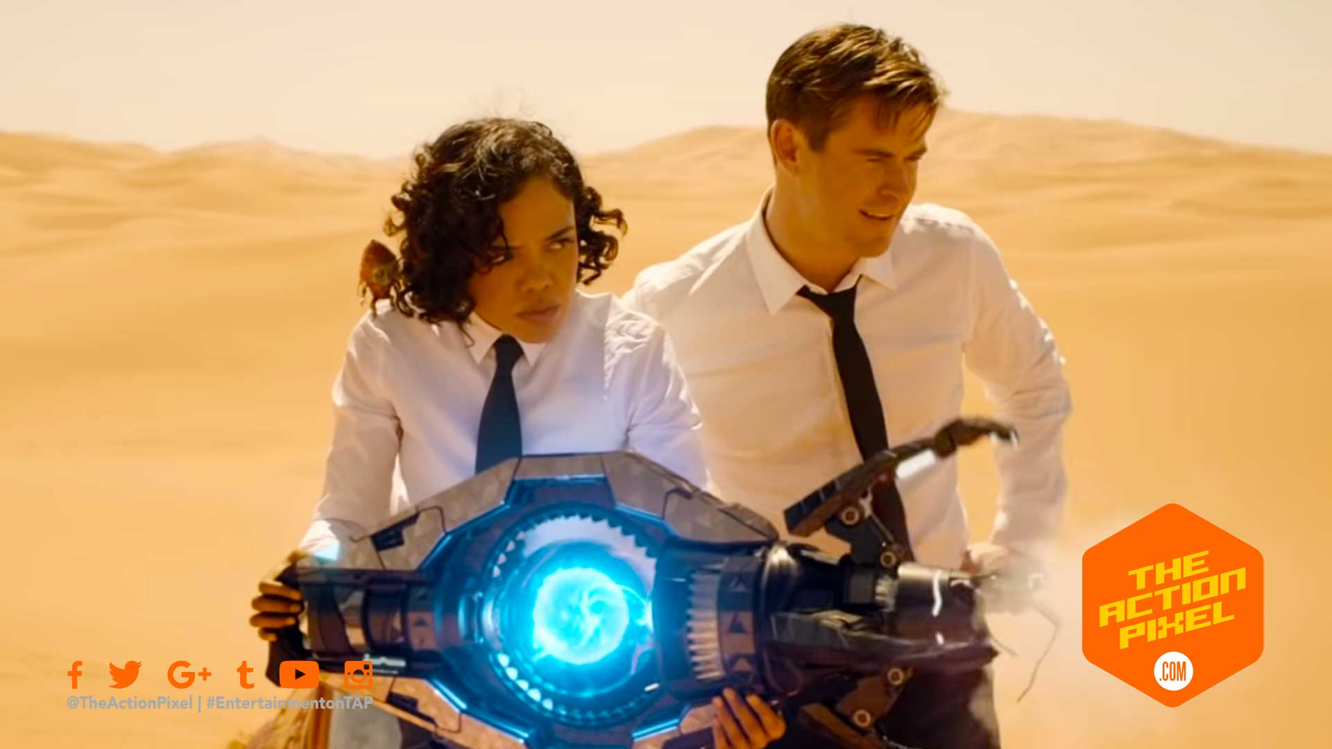 TESSA THOMSPSON, MEN IN BLACK ROACH GUY, MIB, MEN IN BLACK, MEN IN BLACK INTERNATIONAL, MEN IN BLACK: INTERNATIONAL, MIB INTERNATIONAL, CHRIS HEMSWORTH, THE ACTION PIXEL, ENTERTAINMENT ON TAP, TRAILER, SONY PICTURES ENTERTAINMENT ,