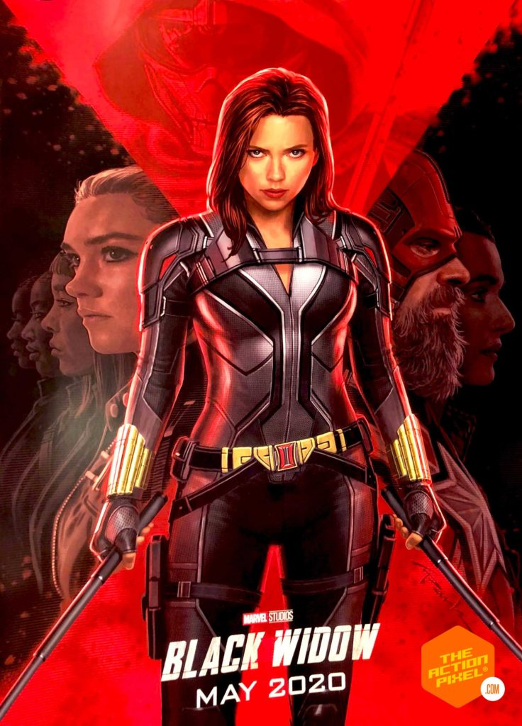 black widow, poster, marvel, marvel studios, taskmaster, the action pixel, entertainment on tap, marvel studiios, marvel, d23 expo,featured