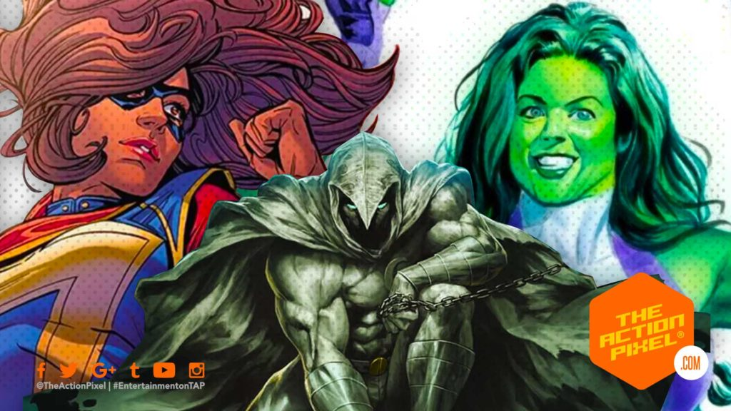 she hulk, moonknight, disney+, disney plus, ms marvel, marvel studios, featured, entertainment on tap, the action pixel, d23 expo 2019, d23 expo, she-hulk, moon knight