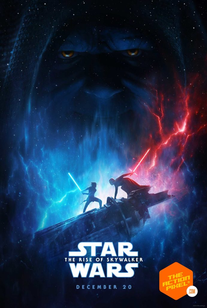 the rise of skywalker, star wars, star wars: the rise of skywalker, star wars the rise of skywalker, the rise of skywalker poster, star wars poster, rey, kylo, palpatine, d23 expo, emperor palpatine,