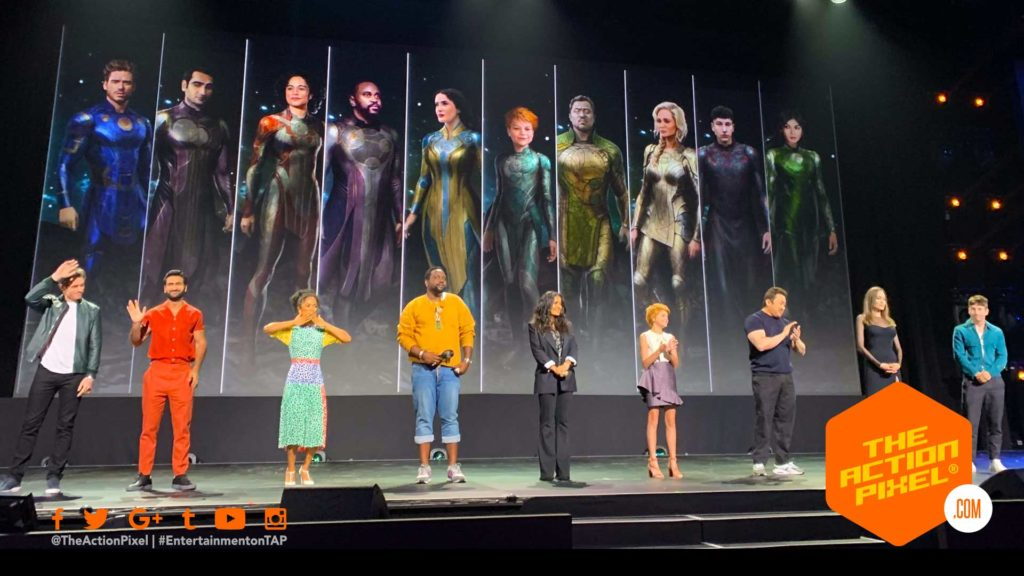 the eternals, d23 expo, eternals , marvel, marvel studios,  Salma Hayek, casting ,marvel studios, marvel, featured, Ajak,  Gemma Chan,  Sersiand Barry Keoghan, druid, thena, angelina jolie,