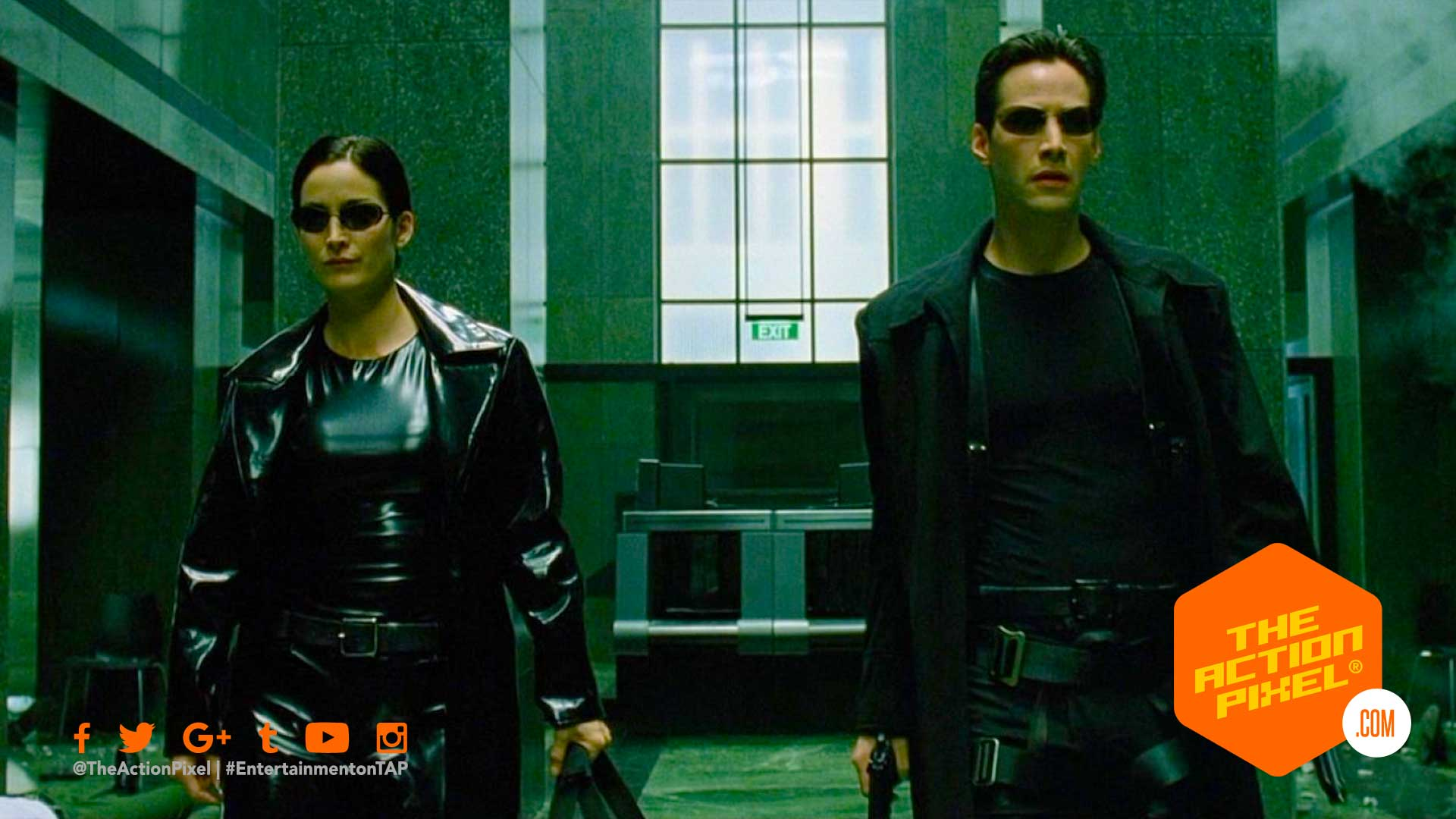 trinity, neo, matrix, matrix 4, the matrix, carrie-anne moss, keanu reeves, the action pixel, entertainment on tap,
