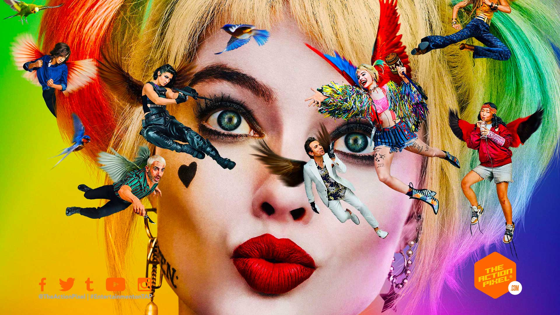 birds of prey poster, birds of prey, birds of prey movie, dc comics, wb pictures, warner bros pictures, harley quinn, margot robbie, the action pixel, entertainment on tap, featured,