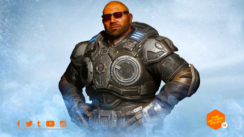 dave bautista, wwe, gears 5, gears of war, the action pixel, entertainment on tap,