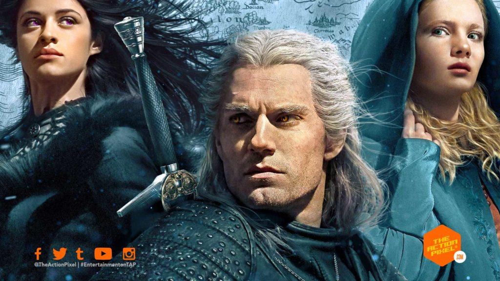 the witcher, the witcher netflix, netflix, the witcher netflix poster, the witcher poster, henry cavill, the witcher, the action pixel, entertainment on tap, the action pixel, henry cavill, featured,the witcher 3: wild hunt, Geralt, netflix, entertainment on tap, the action pixel, @theactionpixel, the witcher,yennefer,Anya Chalotra, Freya Allan, ciri, geralt, henry cavill, netflix, featured,teaser trailer,the witcher main trailer